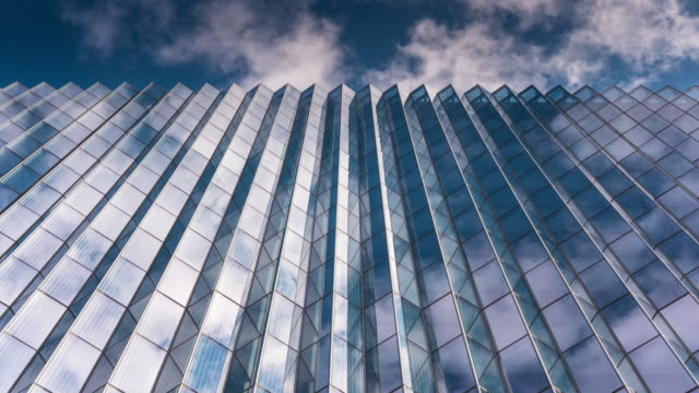 looking up on office building - contemporary architecture stock videos & royalty-free footage