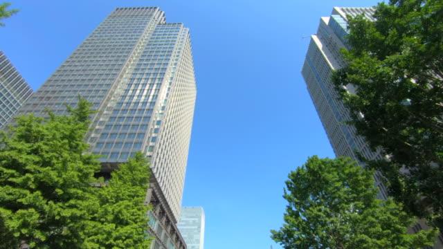 超高層ビルの眺めを見上げる - ローアングル点の映像素材/bロール