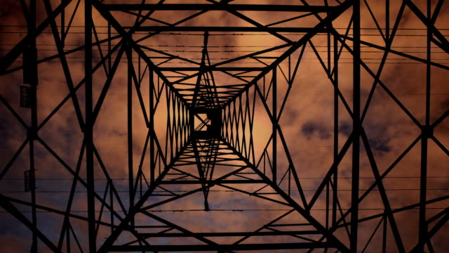 Looming Power-line Tower Time-lapse video