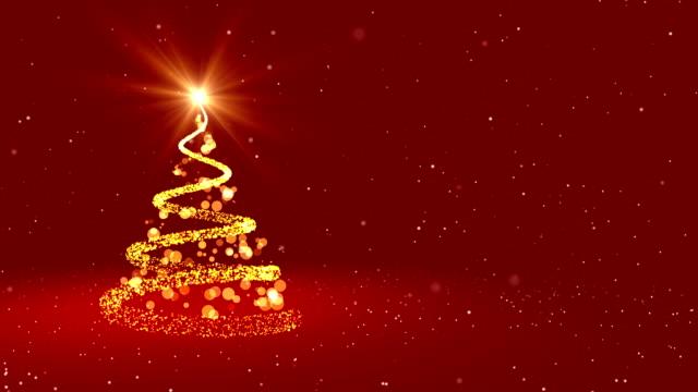 loop-4 k-weihnachts-grußkarte - weihnachtskarte stock-videos und b-roll-filmmaterial