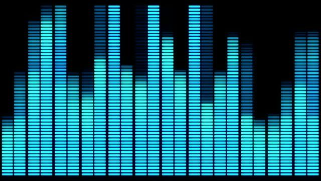 loop audio equalizer background. music control levels - attrezzatura per la musica video stock e b–roll