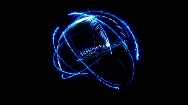 Loop background with atom model