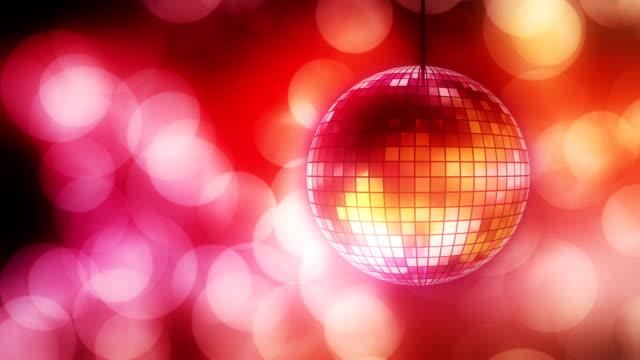 Loop: disco ball with bokeh video
