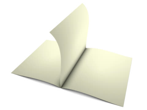 loop flipping blank pages video