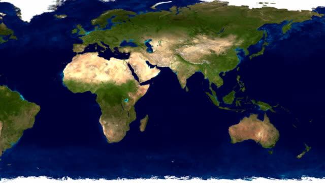 vídeos de stock, filmes e b-roll de animação de terra de loop hd incríveis 30 qps - cartografia