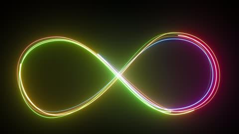 stockvideo's en b-roll-footage met loop lijnen kleurrijk ontwerp. - 4k resolutie