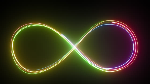 Loop lines colorful design. Neon style motion, line icon, infinite abstract neon glow, multicolor moving seamless lines. Loop. 4k stock videos & royalty-free footage