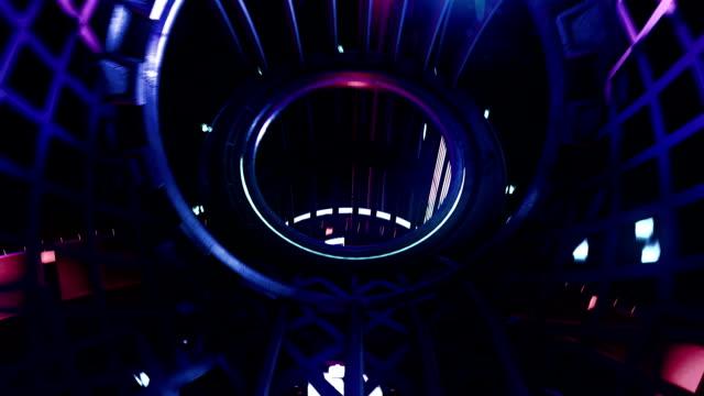 vj loop neon digital tunnel - współzawodnictwo wydarzenia filmów i materiałów b-roll