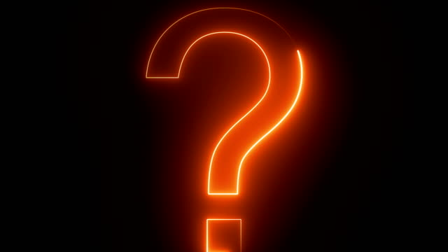Loop Orange And Blue Colored Question Mark Background