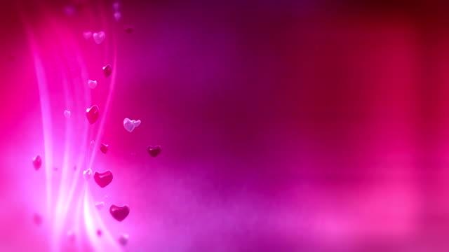 Loop: pink hearts background