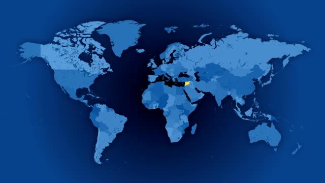vídeos de stock, filmes e b-roll de loop mapa político do mundo-selecionados aleatoriamente, 100 países e territórios, em destaque. - país área geográfica