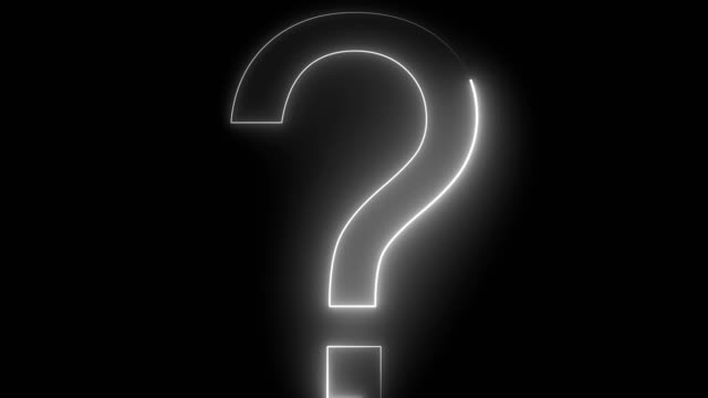 3D Loop Question Mark On Black Background Question Mark, Asking, Abstract, Sign, Symbol faq stock videos & royalty-free footage