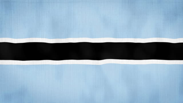 Loop, Real Looking Fabric Texture and Wavy Botswana Flag Animation 2D and 4K Animation botswana stock videos & royalty-free footage
