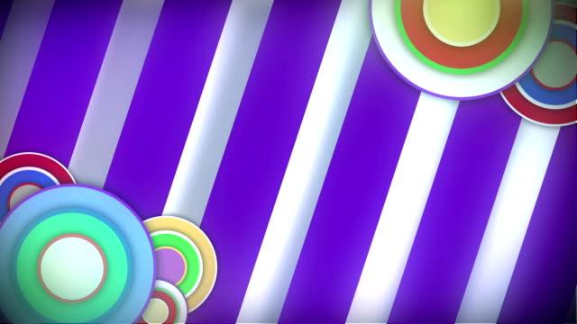 loop sfondo retrò - pop art video stock e b–roll