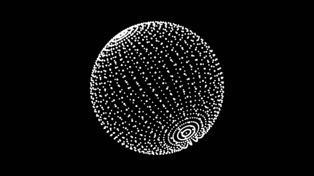 Loop rotate sphere animation cycle. White dots on black background Loop rotate sphere animation cycle. White dots on black background. illusion stock videos & royalty-free footage