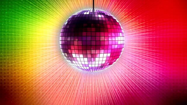 vídeos de stock, filmes e b-roll de loop: brilhante bola de discoteca - dance music
