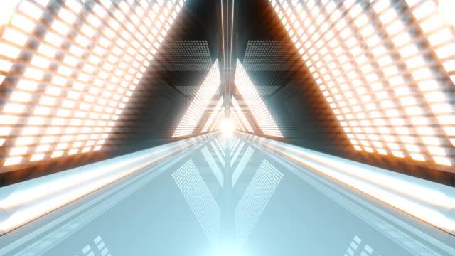 vídeos de stock, filmes e b-roll de túnel de triângulo vj loop - dj