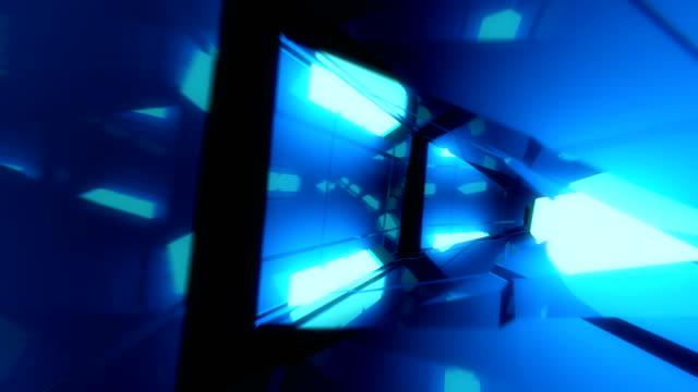 vídeos de stock, filmes e b-roll de vj loop bordas triangular - dance music