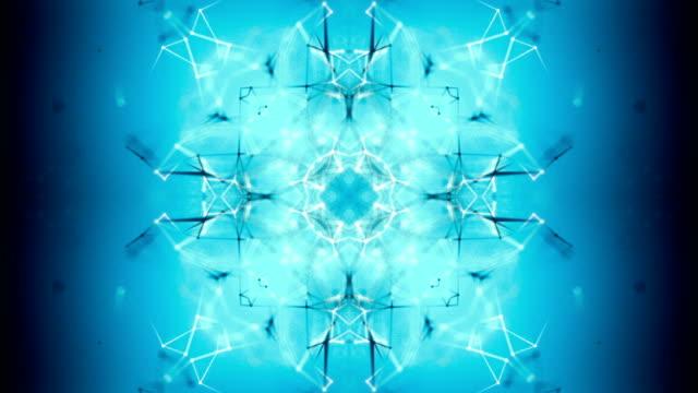 ループ接続技術の抽象的な背景 - 万華鏡模様点の映像素材/bロール
