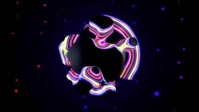 Endlos wiederholbar abstrakte gestreifte Kugel vj loops – Video