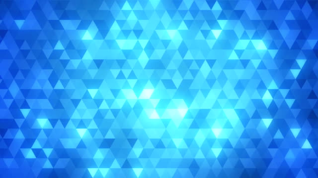 loopable abstract triangles background blue - pattern stok videoları ve detay görüntü çekimi