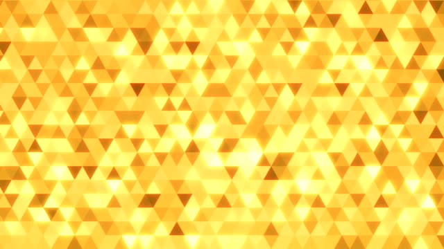 Loopable abstract triangles background gold video