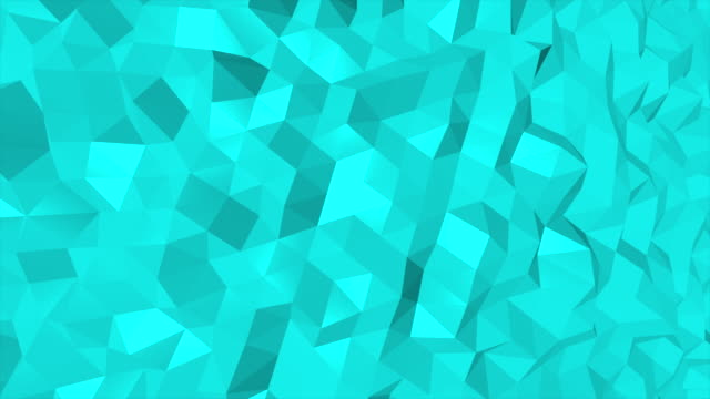 Loopable abstract triangles background Turquise, 4K(UHD) video