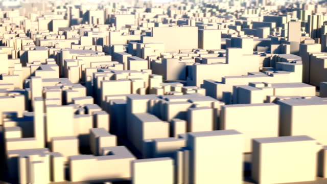 Loopable Aerial view of city video
