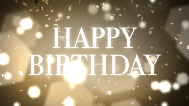 Loopable and Elegant Happy Birthday Animation video