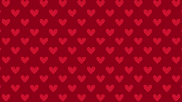 4K loopable animated heart pattern background