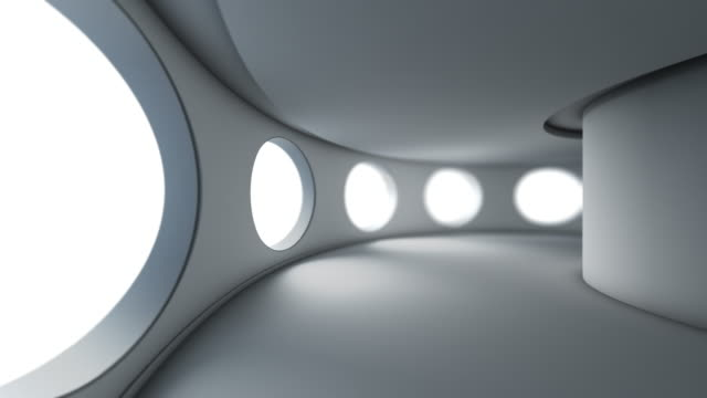 3d loopable animation abstract gray architecture background - contemporary architecture stock videos & royalty-free footage