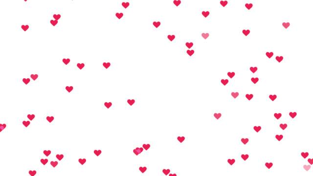 loopable animation langsam bewegen sich rosa wie symbole herzen auf transparentem hintergrund. - online dating stock-videos und b-roll-filmmaterial