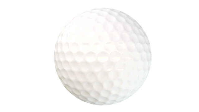 Loopable animation video of spinning golf ball with alpha matte video