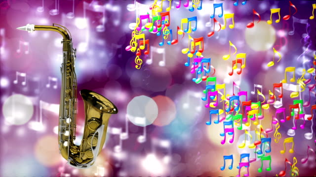 HD Loopable Background with nice abstract saxophone