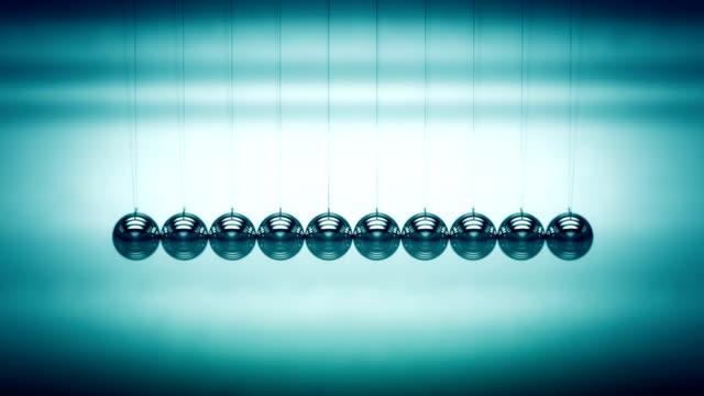 Loopable balancing balls Newton's cradle video