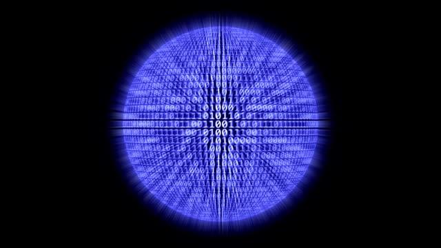 loopable: 二進位球體 - 二進制碼 個影片檔及 b 捲影像