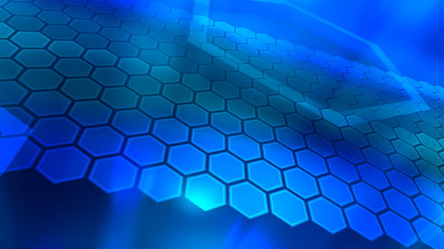 Loopable, Blue Abstraction, Hexagons video