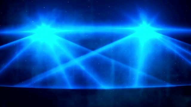 Loopable blue laser show background video