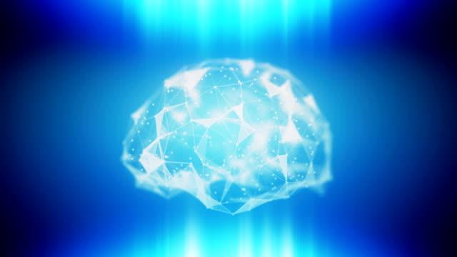 AI ML loopable brain background video