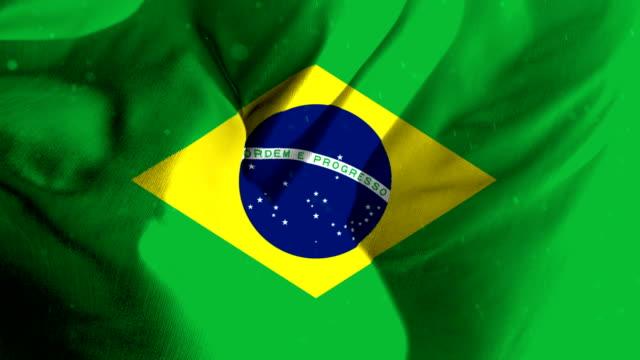 loopable Brazil flag video