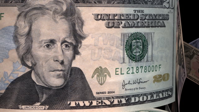 Loopable, Close-up US Currency with Rays video