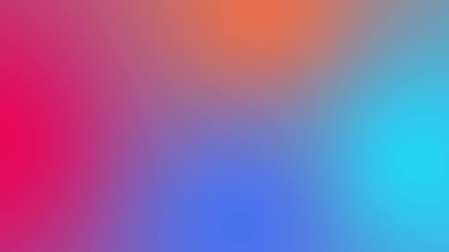 vídeos de stock e filmes b-roll de 4k loopable color gradient background animation - gradient