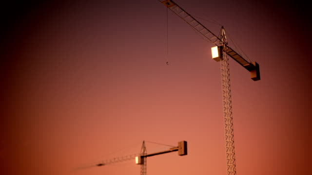 Loopable construction crane video