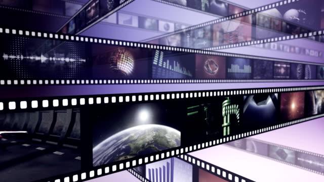 Loop-able creative animation of film reels video