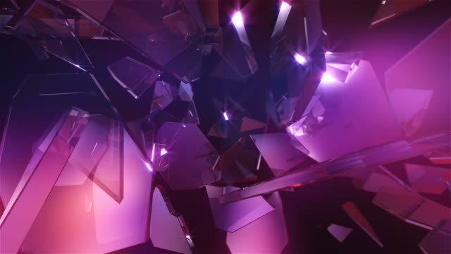 hd: петли стеклянными кристаллами. абстрактный фон - кристалл стоковые видео и кадры b-roll