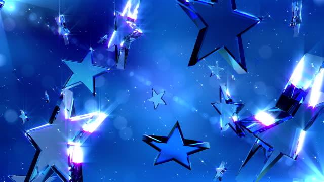 hd: loopable crystal stars - loopad bild bildbanksvideor och videomaterial från bakom kulisserna
