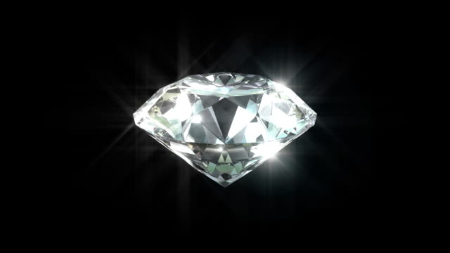 loopable diamond close-up with matte - elmas stok videoları ve detay görüntü çekimi