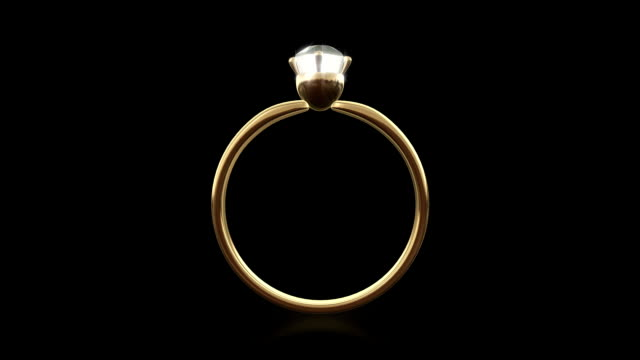 Loopable diamond ring (Alpha_channel) video