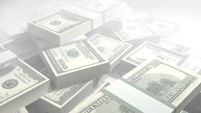 loopable dollaro stack - bonus video stock e b–roll