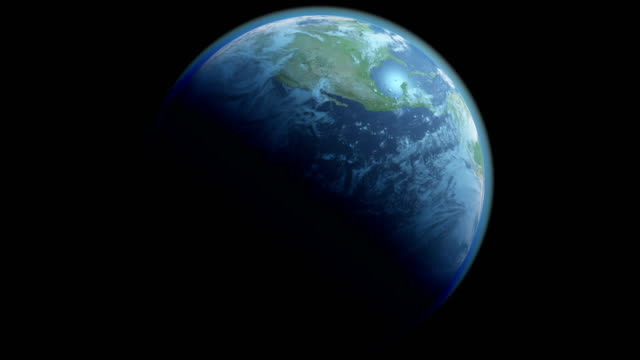 Loopable Earth Globe Isolated on Black Background with Alpha Channel video